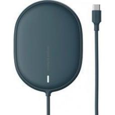 Беспроводная зарядка для iPhone 12/12 Pro/12Pro Max 15w Baseus Light Magnetic Wireless Charger (Type-C кабель 1.5м) Синяя (WXQJ-03)