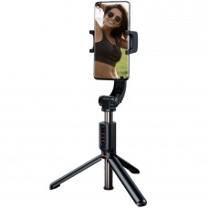 Монопод-трипод для телефона Bluetooth со стабилизатором и пультом Baseus Lovely Uniaxial Folding Stand Selfie Stabilizer - Черный (SULH-01)