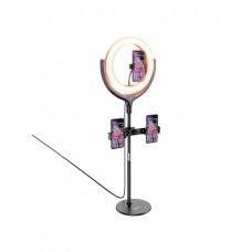 LED-кольцо для селфи с 3-мя держателями, пультом и штативом 30 см Hoco LV01