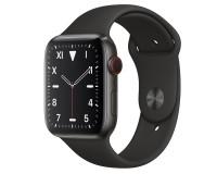 Часы Apple Watch S5 44 mm Титан черный спортивный ремешок