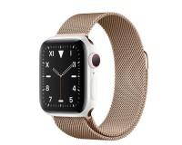 Часы Apple Watch S5 44 mm Белая керамика золотой браслет