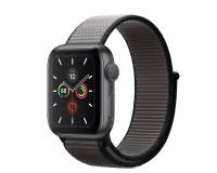 Часы Apple Watch S4 44 mm Gray алюм., черный нейлоновый ремешок