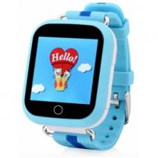 GPS трекер, часы, мобильный телефон детский TD-02 (голубые)