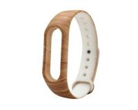 Ремешок к фитнес-браслету Xiaomi Mi Band 3 силиконовый (коричневый, под дерево)