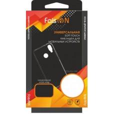 """Чехол универсальный (Faison) 3,8""""-4,0"""" книжка с окном на силиконовой основе"""