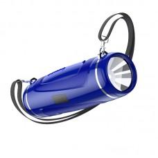 Bluetooth колонка Borofone BR7 с фонарем  синий