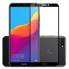 Защитное стекло Huawei Honor 7C (5D) черная рамка (техпакет)(ударопрочное)