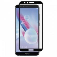 Защитное стекло Huawei Honor 9 (5D) черная рамка (техпакет)(ударопрочное)