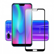 Защитное стекло Huawei Honor 10 (2.5D) черная рамка (техпакет)(ударопрочное)