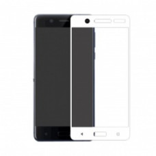 Защитное стекло Nokia 5.1 (2018)(2,5D) белая рамка (ударопрочное)