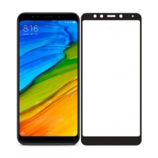 Защитное стекло Xiaomi Redmi 5 (5D) черная рамка (ударопрочное)