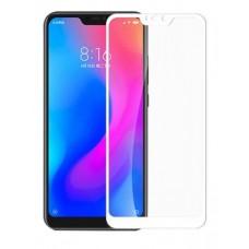 Защитное стекло Xiaomi Mi А2 (2,5D) белая рамка (ударопрочное)