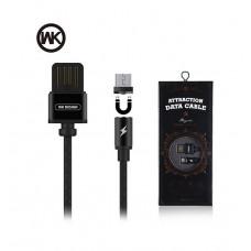 USB кабель Micro USB 1м магнитный (WK Atraction) WDC-046 (коробка)