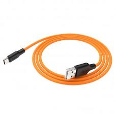 USB кабель Type-C (Hoco) X21Plus 1.0м желтый