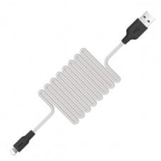 USB Lightining Cable iPhone5/6/7 силиконовый супер 1м  X21 (Hoco)