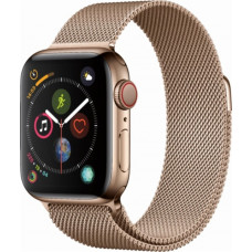 Apple Watch 40mm S4 Gold Stainless Steel Case with Gold Milanese Loop