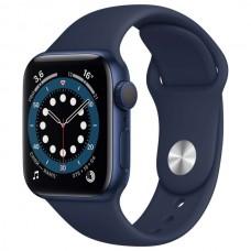 Apple Watch S6 44 mm Синий алюминий, Синий спортивный ремешок (A2291)