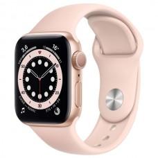Apple Watch S6 44 mm Золотой алюминий, Розовый спортивный ремешок