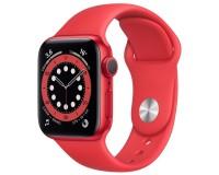 Apple Watch S6 44 mm Красный алюминий, Красный спортивный ремешок (A2292)