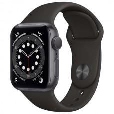 """Apple Watch S6 44 mm алюминий, цвет """"Серый космос, черный спортивный ремешок"""