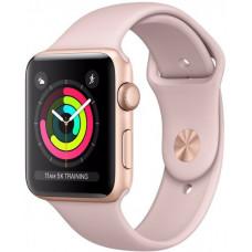 Часы Apple Watch S4 44 mm золотистый алюминий, розовый нейлоновый ремешок (GPS)