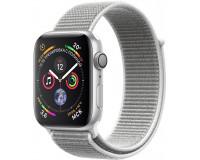 "Часы Apple Watch S4 44 mm серебистый алюм., нейлон.""белая ракушка"" рем. (GPS)(A1978)"