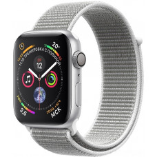 "Часы Apple Watch S4 40 mm серебистый алюм., нейлон.""белая ракушка"" рем. (GPS)(A1978)"