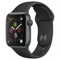 """Часы Apple Watch S4 40 mm алюминий """"серый космос"""", черный спортивный рем."""