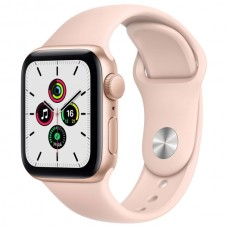 Apple Watch SE 44mm Gold Aluminum Case with Pink Sand Sport Band