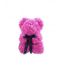 Медведь из 3D роз (25см)