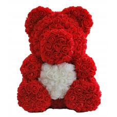 Медведь из 3D роз (40см)