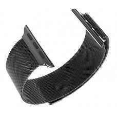 Ремешок для Apple Watch 42 мм Миланский сетчатый с магнитной застежкой Black