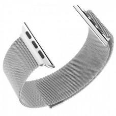 Ремешок для Apple Watch 44 мм Миланский сетчатый с магнитной застежкой Silver