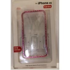iPhone 4 Bumper металл со стразами
