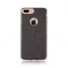 iPhone 7 Plus Чехол силикон с металлическим ободком (WK Design)
