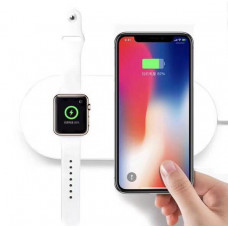 Беспров. зарядка для смартфона и Apple Watch (Qi)(белая)