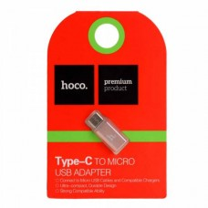 Переходник micro USB на USB Type-C (Hoco)
