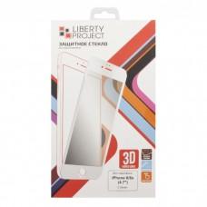 iPhone 6/6S защитное стекло 3D белое