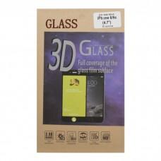 iPhone 6/6S защитное стекло 3D золотое
