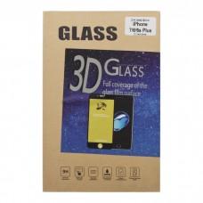 iPhone 6 Plus защитное стекло 3D золотое