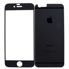 iPhone 6/6S  2в1 Защитное стекло черная