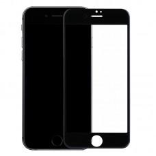 iPhone 7 Plus/8 Plus 3D Защитное стекло черное прорезиненное