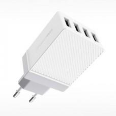 Блок питания сетевой с 4 USB выходами (12V)(2.4-3.4A) C23B (Hoco)