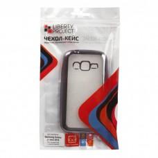 Samsung J105H Galaxy J1mini (16) Чехол силиконовый (прозрачный с хром.рамкой)