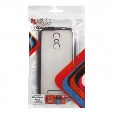 Xiaomi Redmi Note 3 Чехол силиконовый (прозрачный с хром.рамкой)