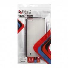 Xiaomi Mi4i Чехол силиконовый (прозрачный с хром.рамкой)
