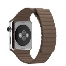 Кожанный ремешок для Apple Watch 42 мм Baseus магнит застежка
