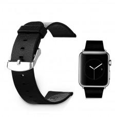 Ремешок кожанный для Apple Watch 42 мм Baseus магнит застежка черный