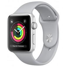 Apple Watch 38mm S3 Серебристый алюминий, спортивный ремешок серый (Fog)