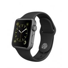"""Часы Apple Watch S1 42 mm, алюминий """"серый космос"""", черн.спорт.рем."""
